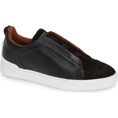 Ermenegildo Zegna Slip-On Sneaker, Black