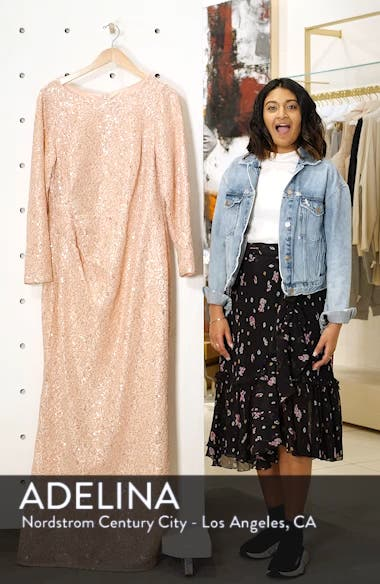 Sequin Lace Evening Dress, sales video thumbnail