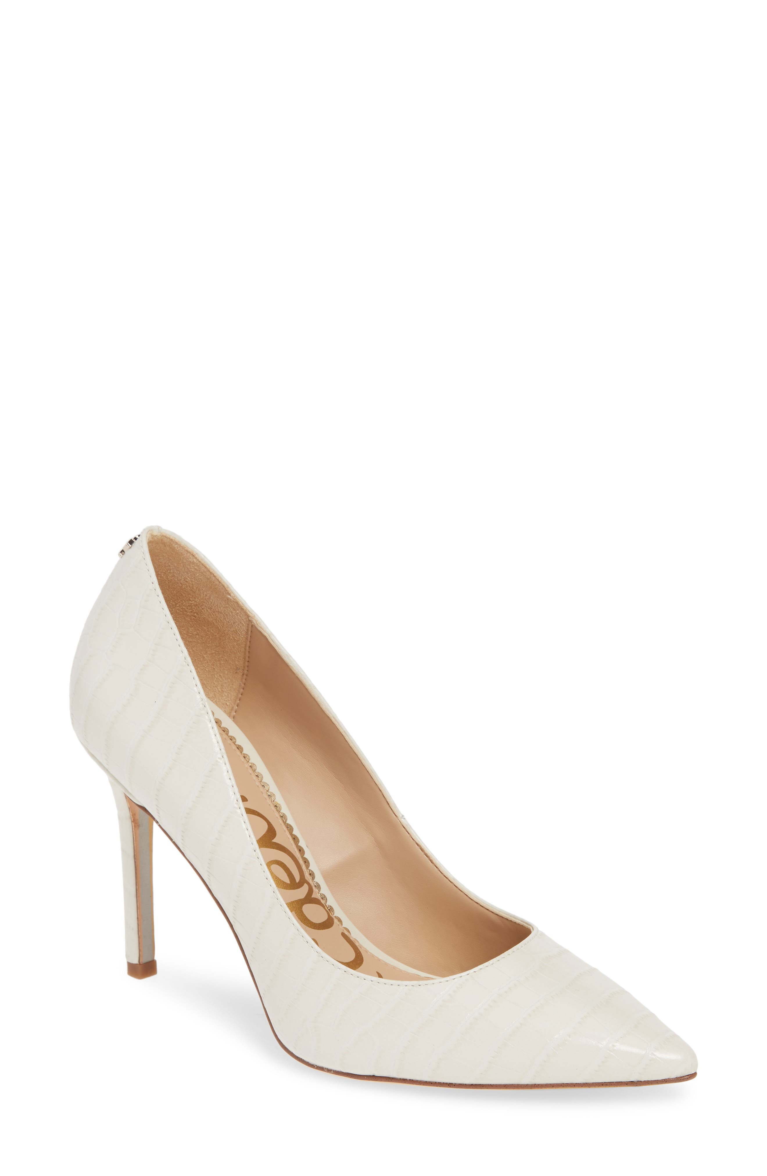 ,                             Hazel Pointy Toe Pump,                             Main thumbnail 1, color,                             MODERN IVORY LEATHER