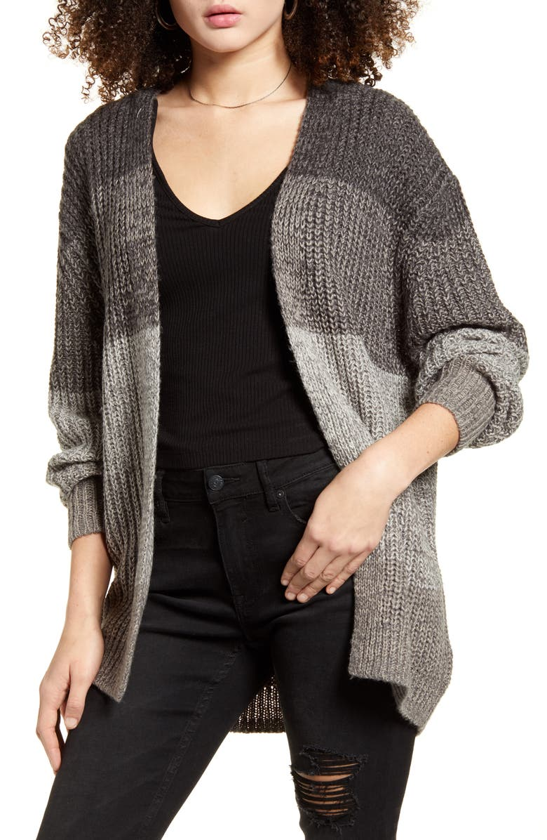 BP. Ombré Cardigan, Main, color, GREY CASTLEROCK OMBRE