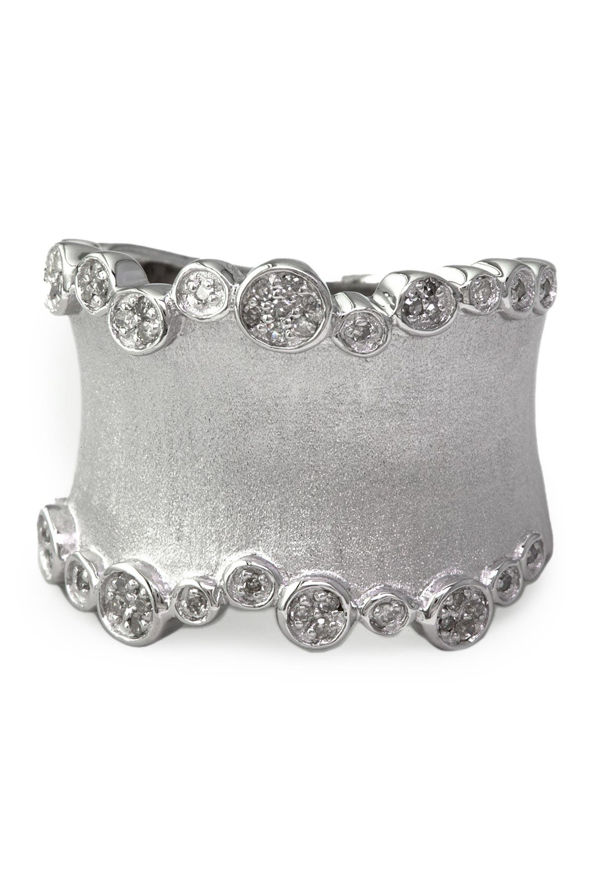 Image of Effy Sterling Silver Pave Diamond Band Ring - Size 7 - 0.20 ctw