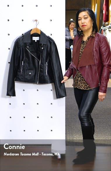 Roxy Faux Leather Moto Jacket, sales video thumbnail