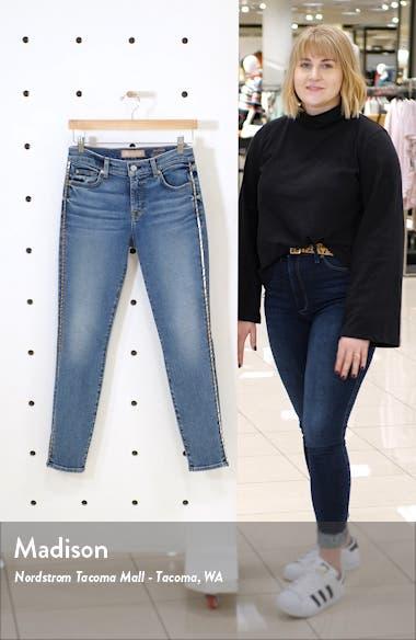 Metallic Chevron Sides Ankle Skinny Jeans, sales video thumbnail