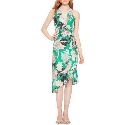 Parker Addie Print Halter Dress, Green