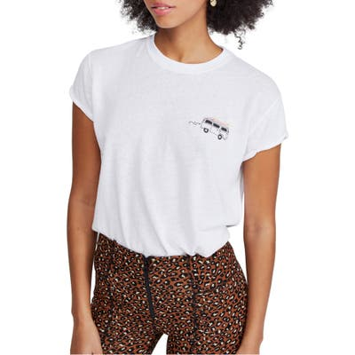 Free People Wipe Out Graphic Tee, White