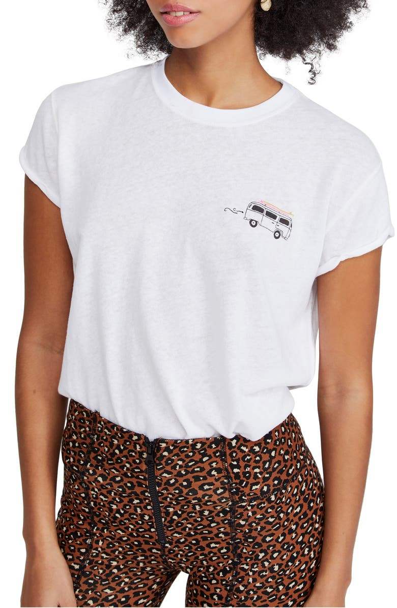 FREE PEOPLE Wipe Out Graphic Tee, Main, color, 100