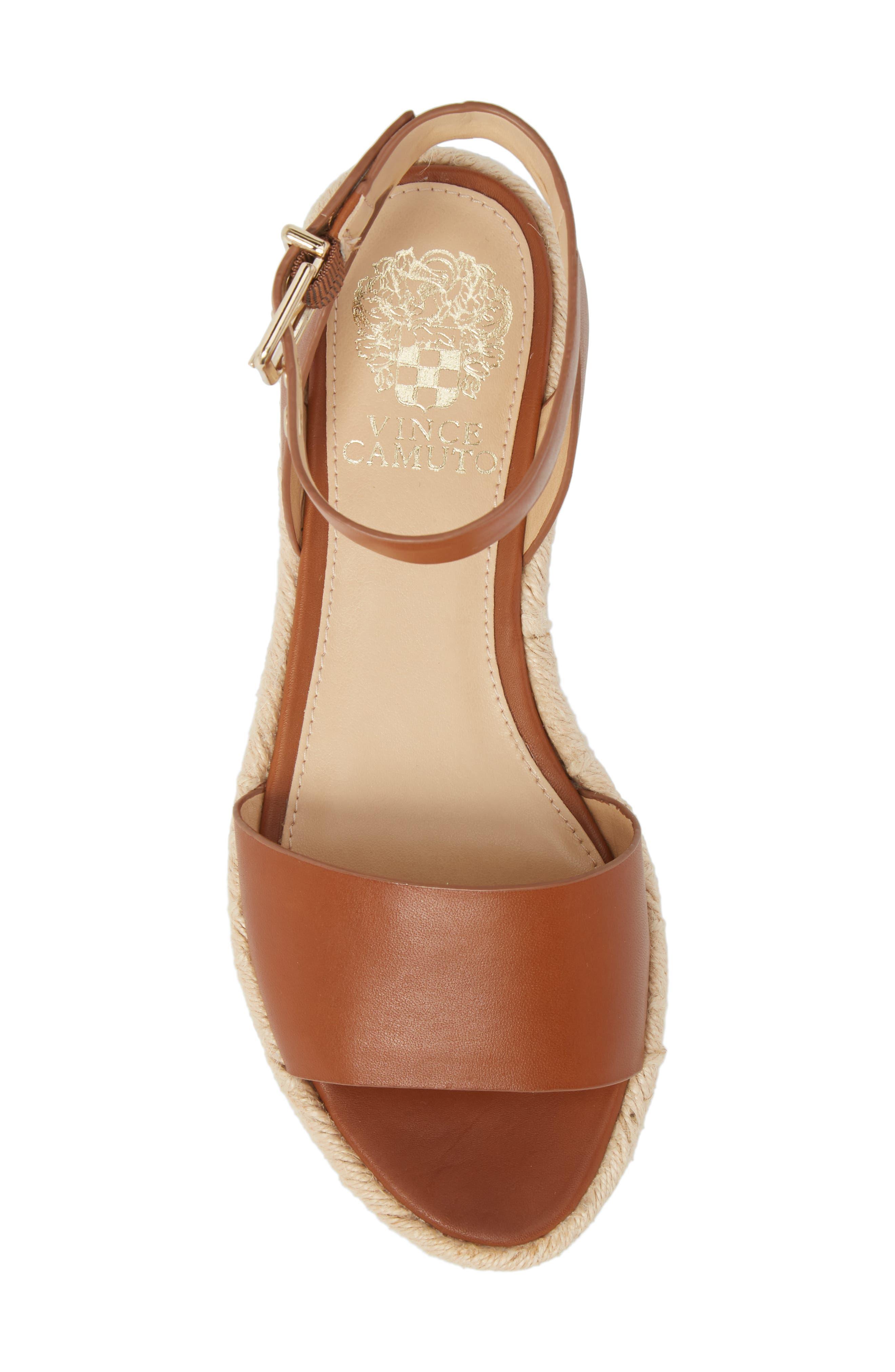 ,                             Kathalia Platform Sandal,                             Alternate thumbnail 5, color,                             SUMMER COGNAC LEATHER