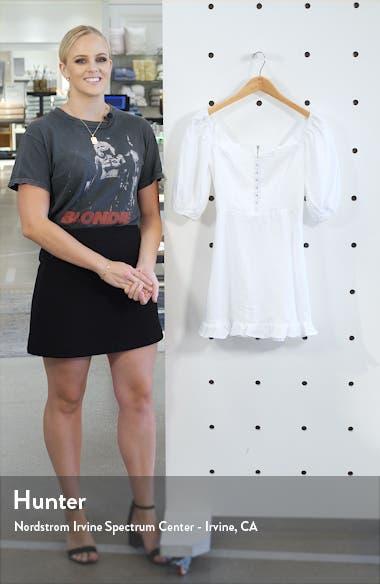 Seattle Puff Sleeve Linen Minidress, sales video thumbnail