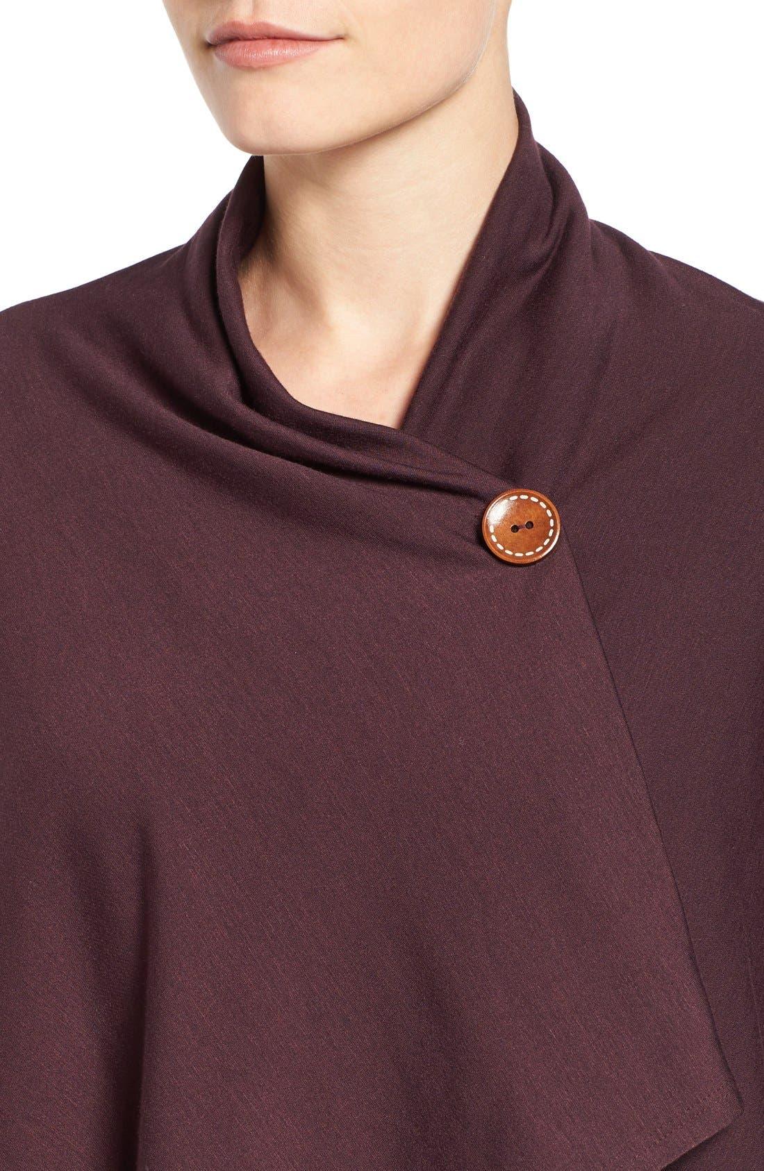 ,                             One-Button Fleece Wrap Cardigan,                             Alternate thumbnail 234, color,                             933