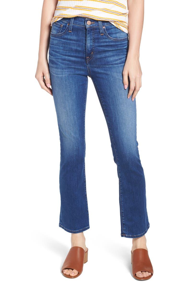 CASLON<SUP>®</SUP> High Waist Crop Flare Jeans, Main, color, 401