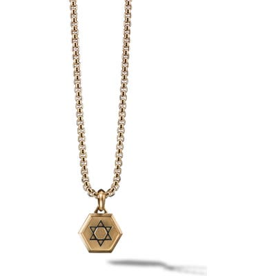 David Yurman Star Of David 18K Gold Amulet Enhancer