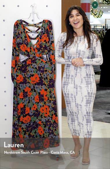 Lowell Long Sleeve Floral Print Dress, sales video thumbnail