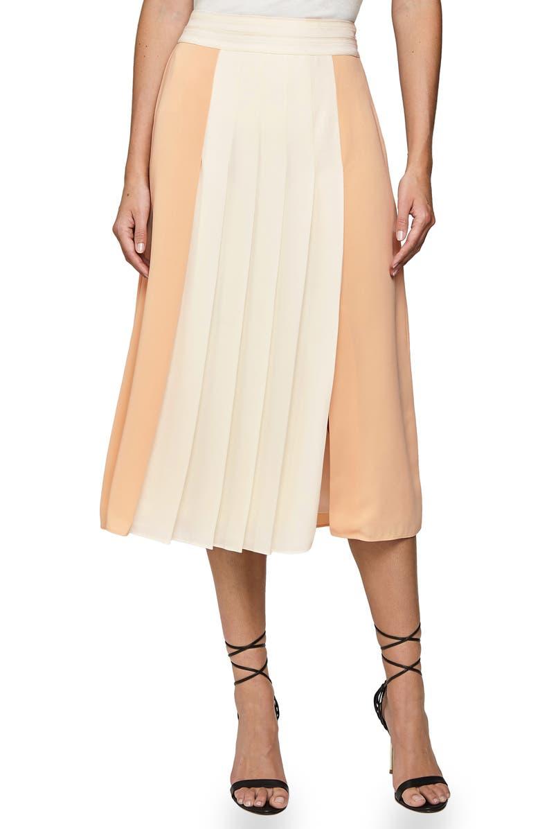 unique design new high quality cheap sale Reiss Abigail Box Pleat Colorblock Skirt | Nordstrom