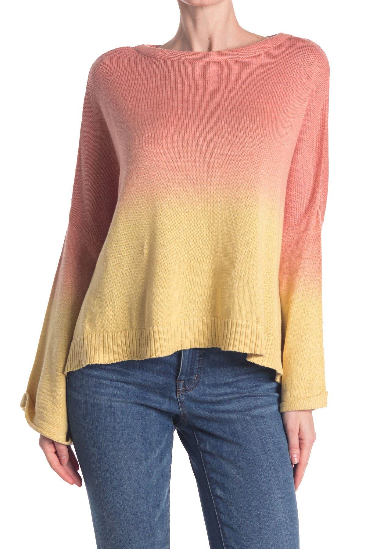 Image of Mustard Seed Dip Dye Knit Sweater