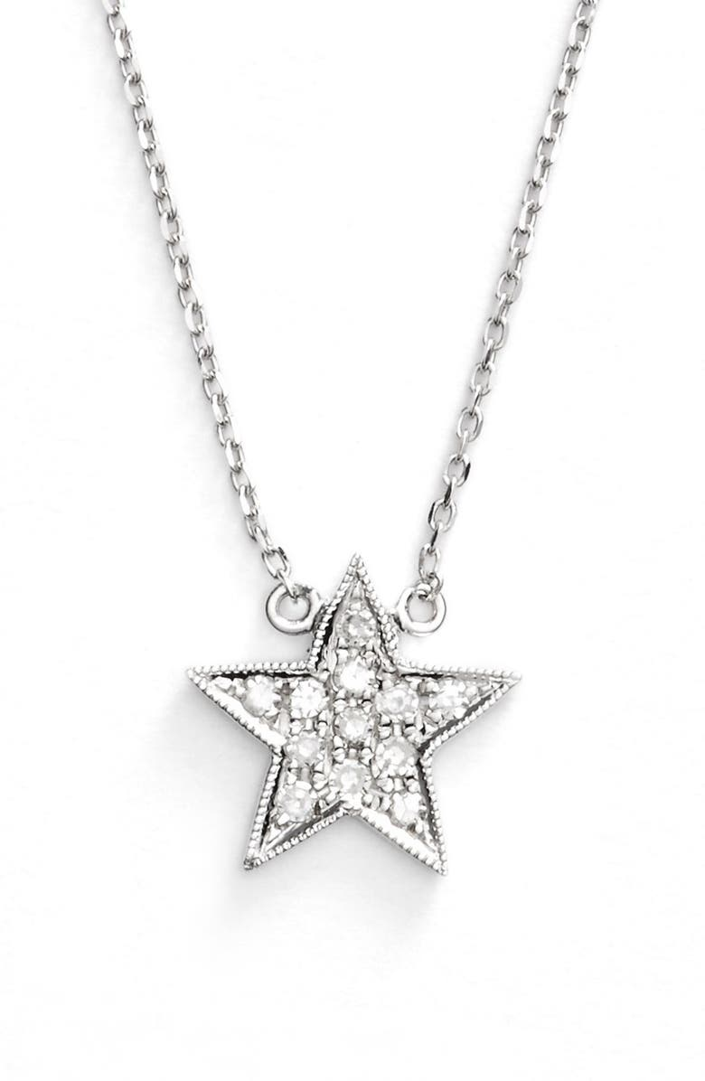DANA REBECCA DESIGNS 'Julianne Himiko' Diamond Star Pendant Necklace, Main, color, WHITE GOLD