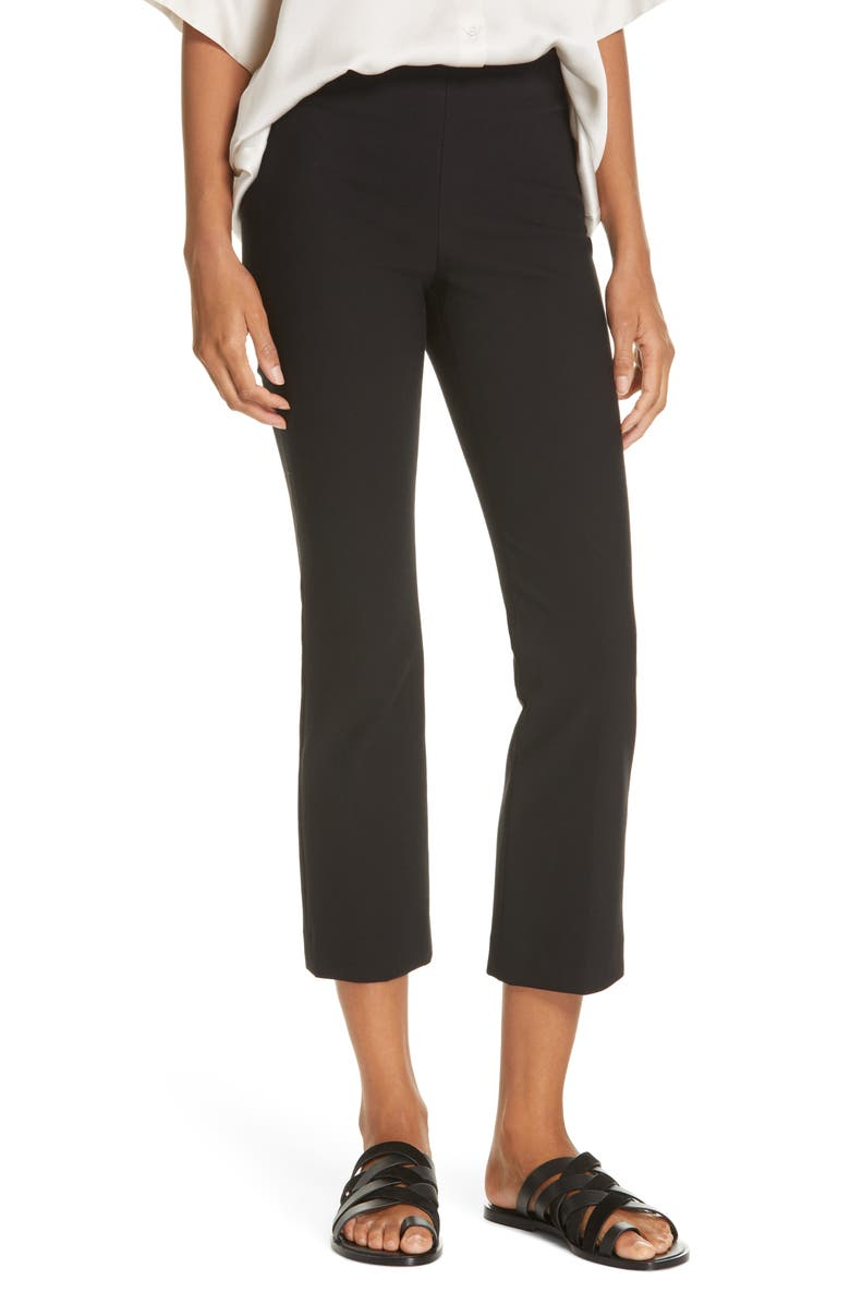 VINCE Crop Flare Pants, Main, color, 001