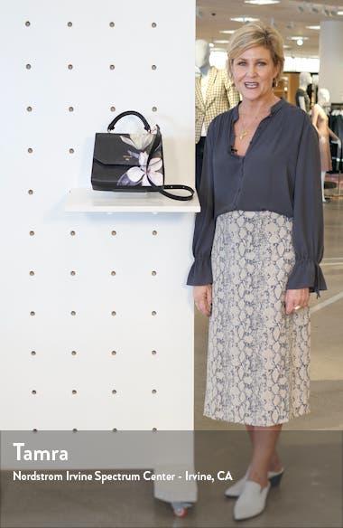 Adeliah Opal Floral Print Faux Leather Top Handle Bag, sales video thumbnail
