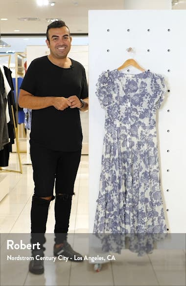 Andie Floral Cotton & Silk Midi Dress, sales video thumbnail
