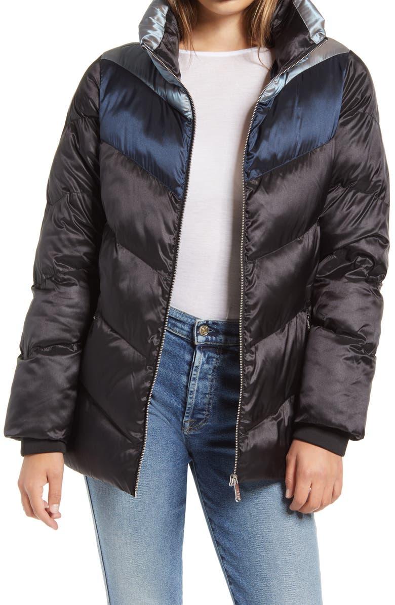 Sam Edelman Colorblock Puffer Coat Nordstrom