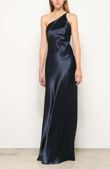 One-Shoulder Satin Gown, video thumbnail