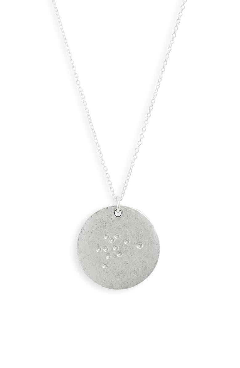 SET & STONES Constellation Pendant Necklace, Main, color, SILVER - AQUARIUS