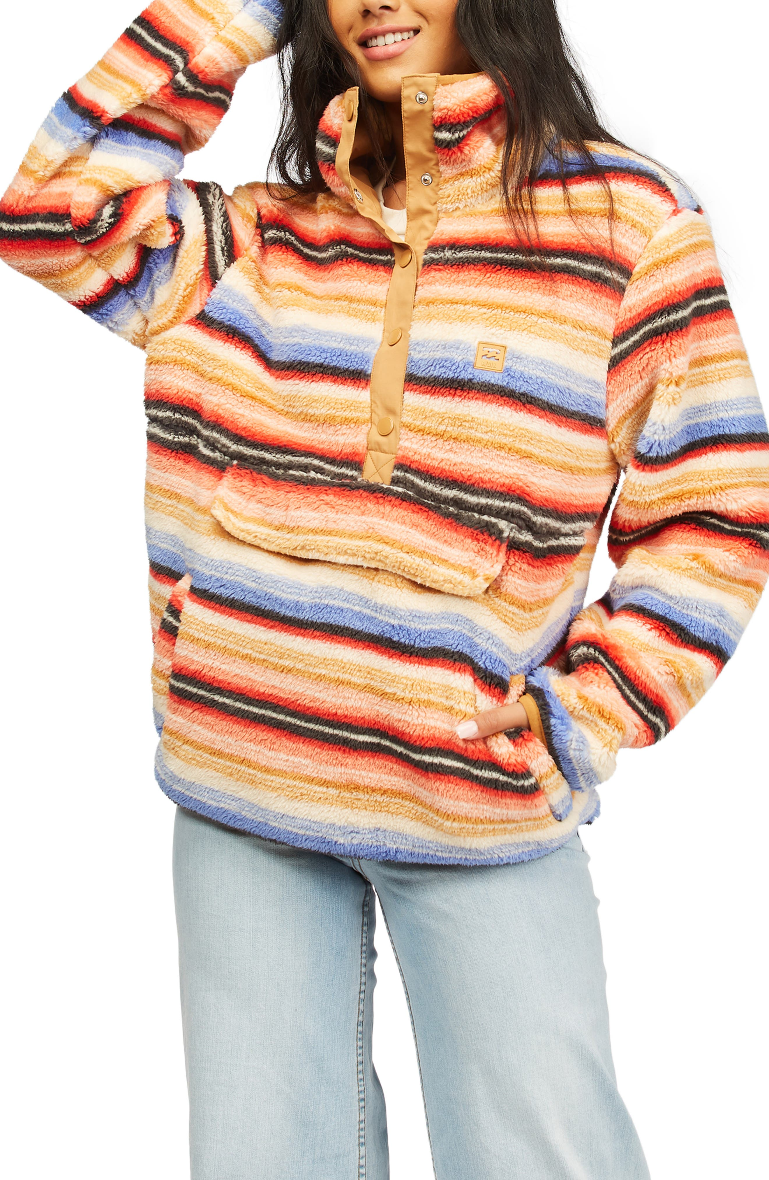 Switchback Faux Fur Pullover