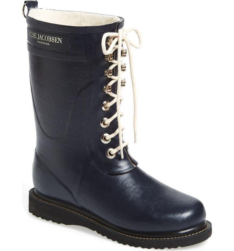 ILSE JACOBSEN Rubber Waterproof Boot, Main, color, DARK INDIGO