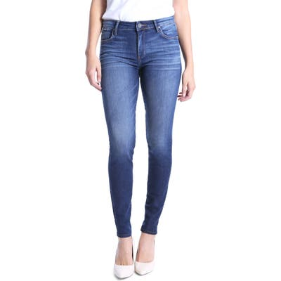 Petite Kut From The Kloth Mia High Waist Skinny Jeans, Grey