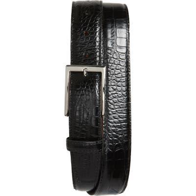 Torino Gator Grain Embossed Leather Belt