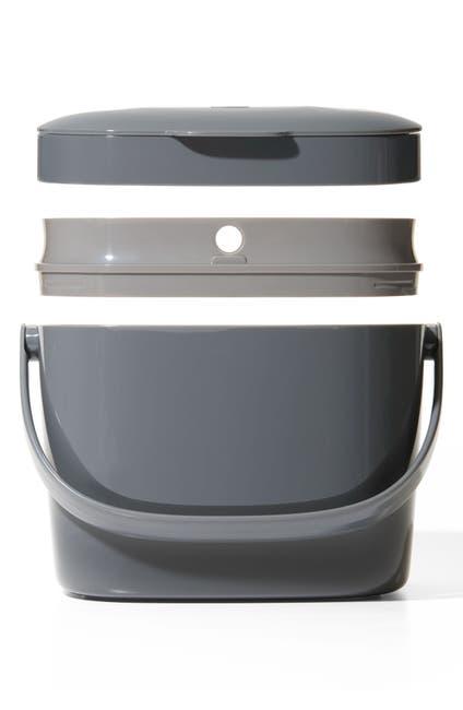 Image of Oxo Easy Clean Compost Bin - 1.75 Gallon - Black