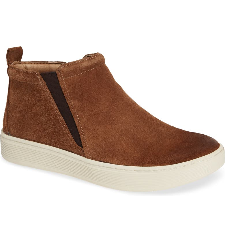 SÖFFT Britton II Waterproof Sneaker Bootie, Main, color, LIGHT BROWN SUEDE