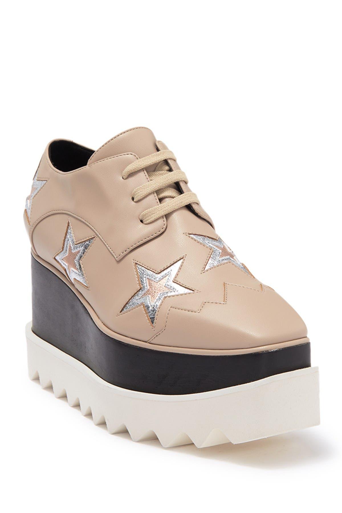 Image of Stella McCartney Lace-Up Platform Derby Sneaker