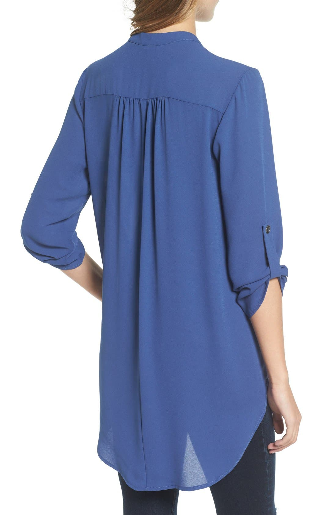 ,                             Perfect Roll Tab Sleeve Tunic,                             Alternate thumbnail 300, color,                             461
