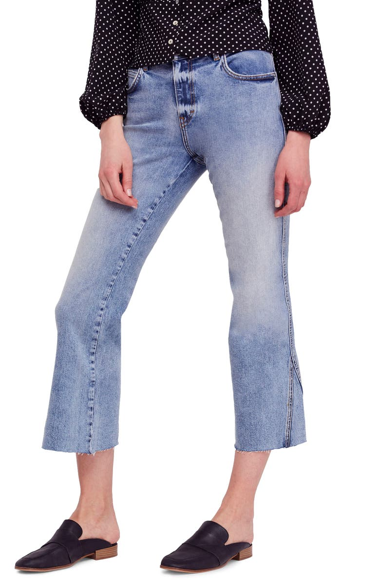 FREE PEOPLE We the Free by Free People Rita Crop Flare Jeans, Main, color, 400
