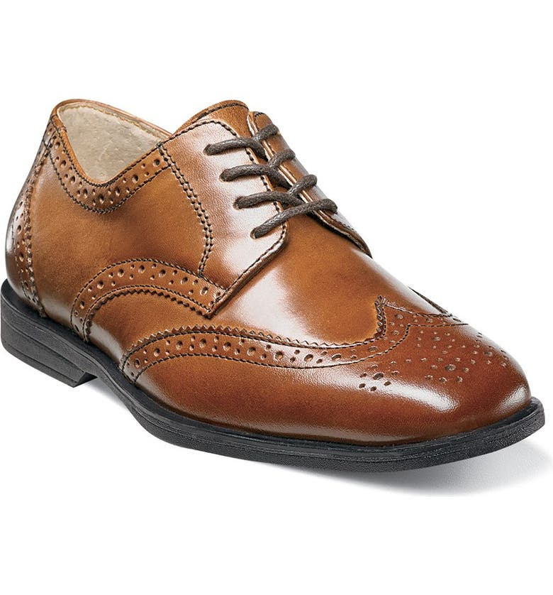 FLORSHEIM 'Reveal' Wingtip Oxford, Main, color, COGNAC LEATHER