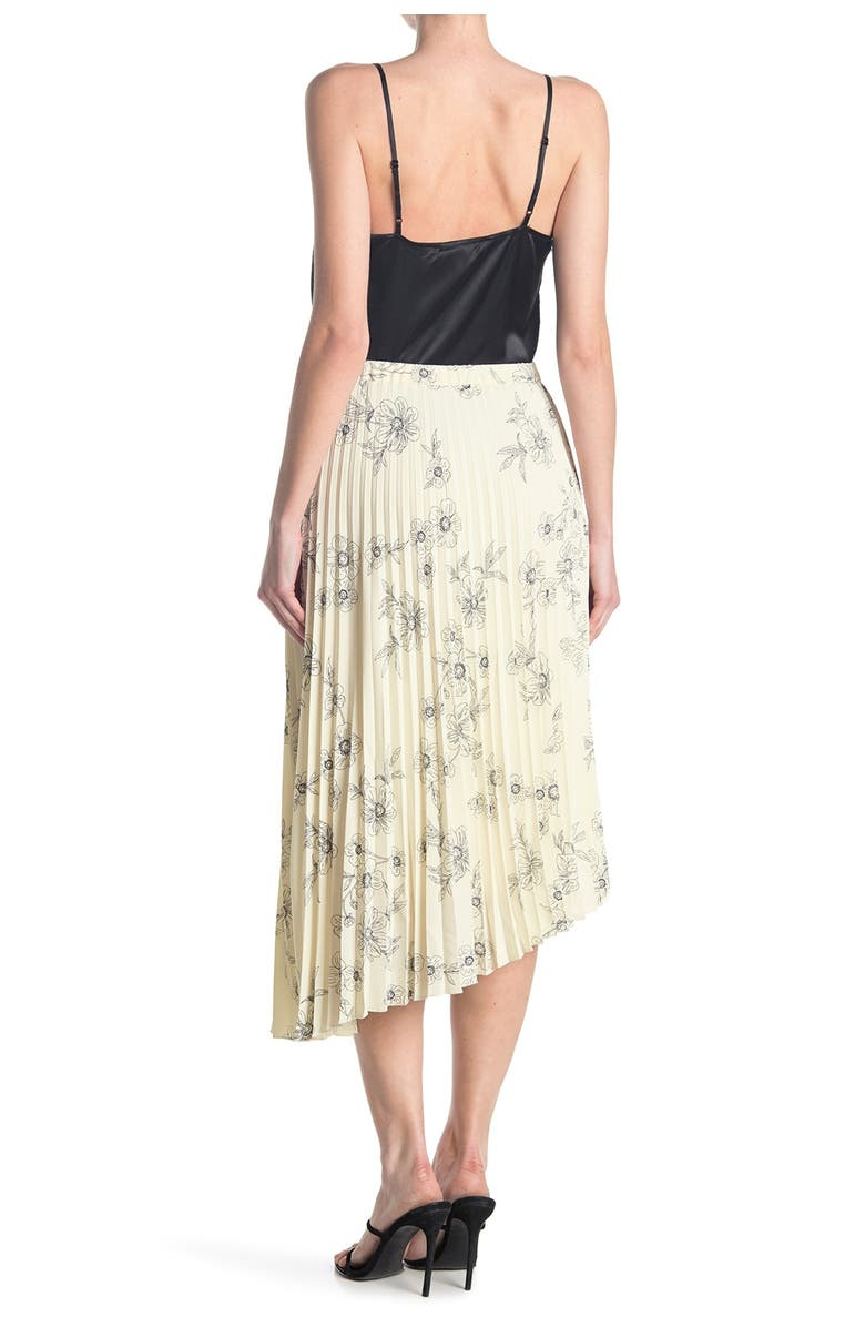 SANCTUARY The Summer Floral Pleated Skirt, Main, color, SKETCHED FLORAL