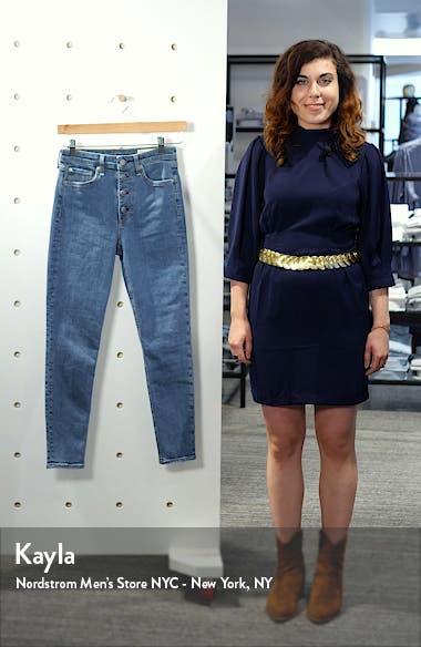 Nina High Waist Ankle Skinny Jeans, sales video thumbnail