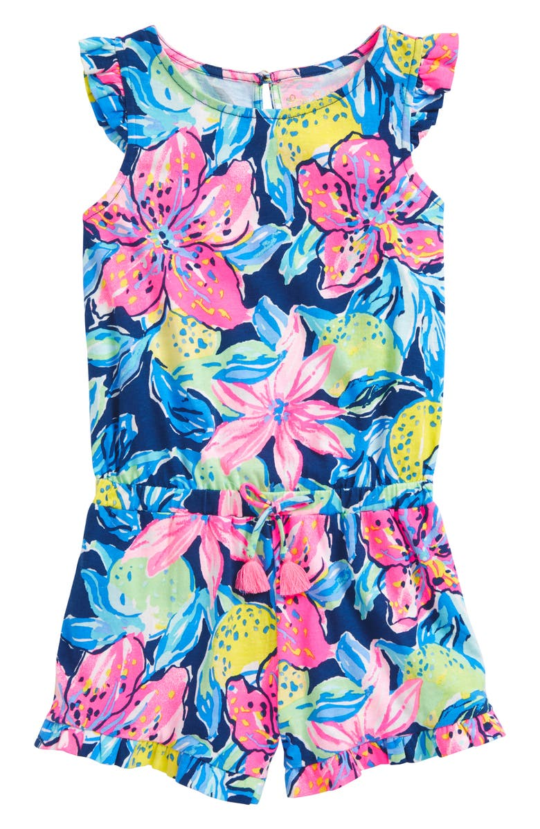 LILLY PULITZER<SUP>®</SUP> Azel Ruffle Romper, Main, color, 475