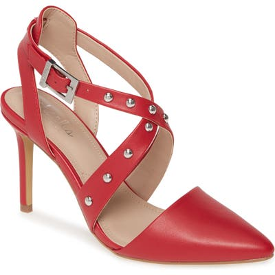 Charles By Charles David Vladimir Studded Pointed Toe Pump- Red