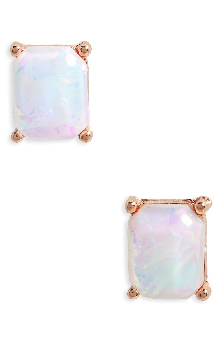 BP. Faux Opal Stud Earrings, Main, color, 710