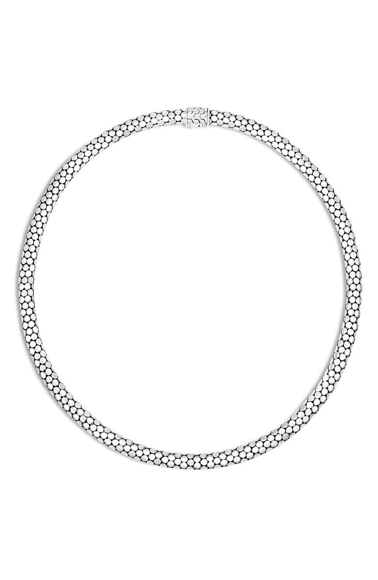 JOHN HARDY 'Dot' Chain Necklace, Main, color, SILVER