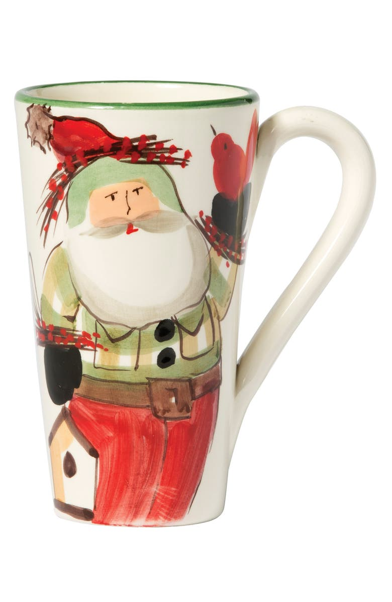 VIETRI Old St. Nick Latte Mug, Main, color, HAND PAINTED