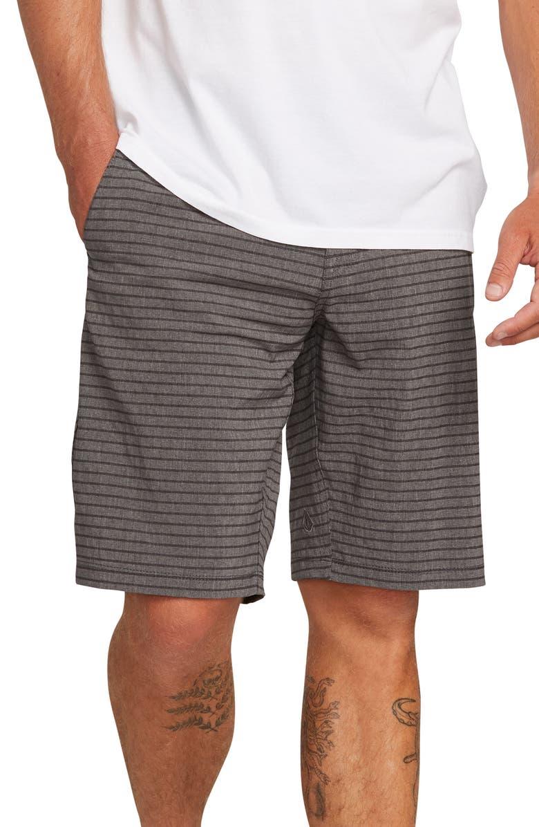 VOLCOM Frickin Surf N' Turf Mix Hybrid Shorts, Main, color, CHARCOAL