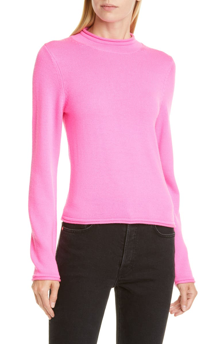 OPENING CEREMONY Fluorescent Merino Wool Sweater, Main, color, FLUORESCENT PINK