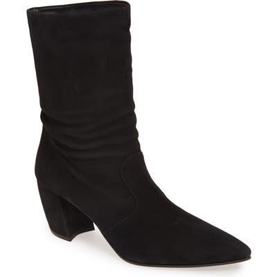 Prada Crescent Heel Bootie - Black
