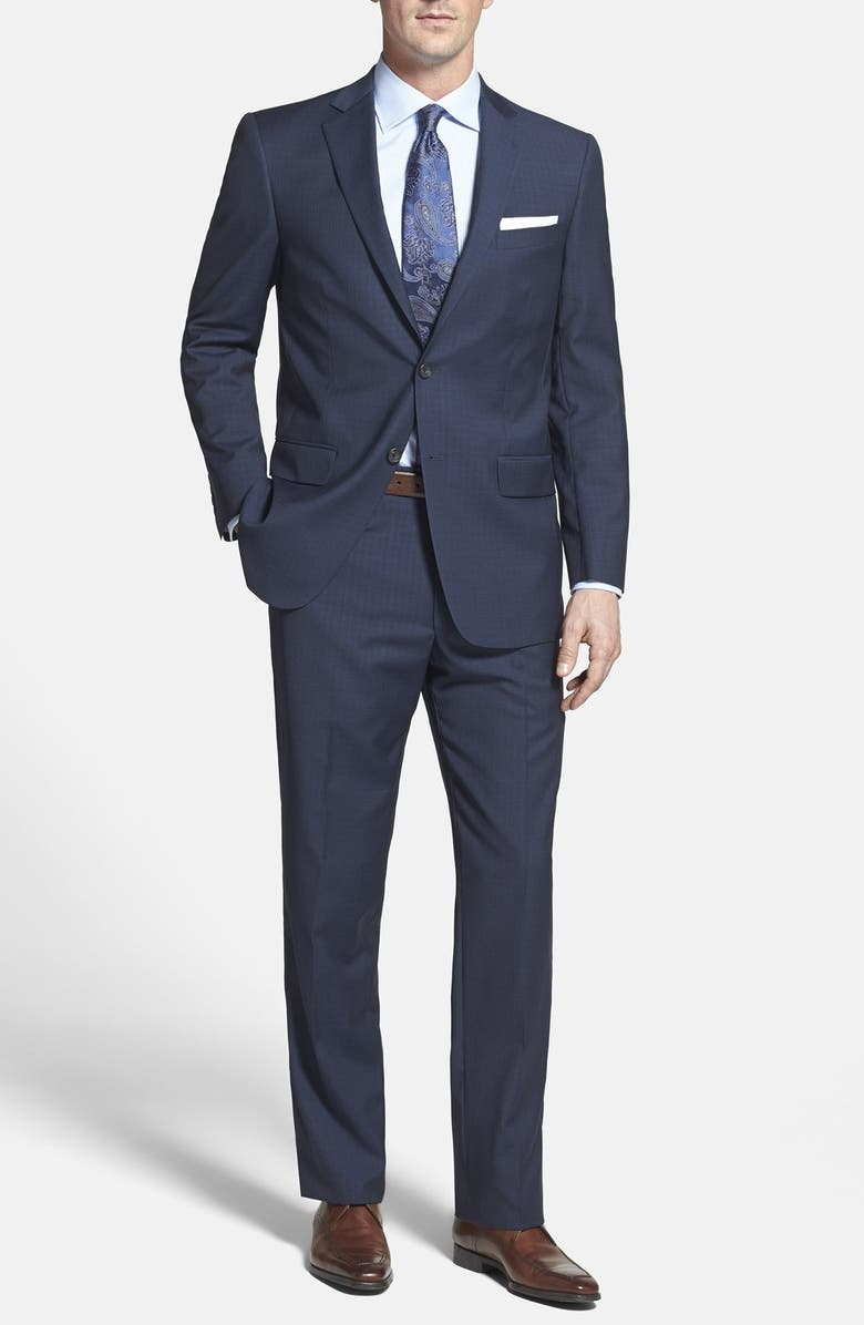 HART SCHAFFNER MARX 'New York' Classic Fit Check Wool Suit, Main, color, 400
