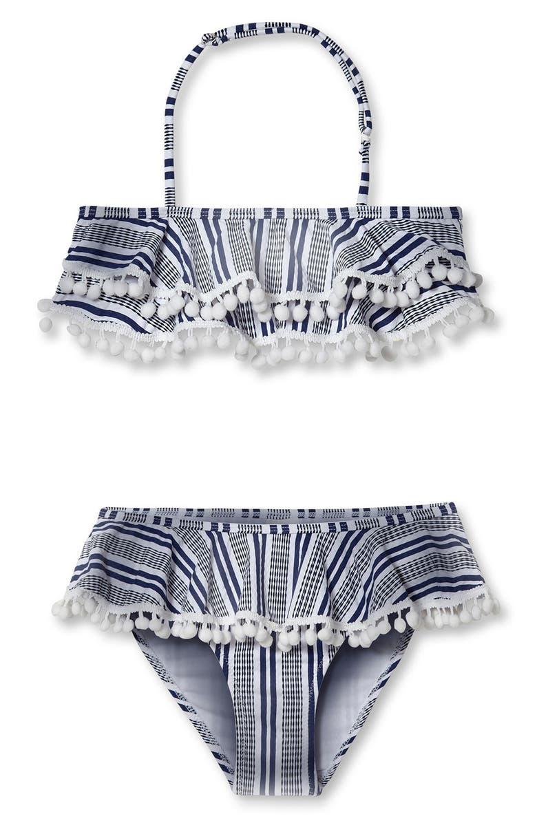 STELLA COVE Two-Piece Swimsuit, Main, color, BLUE/ WHITE STRIPE