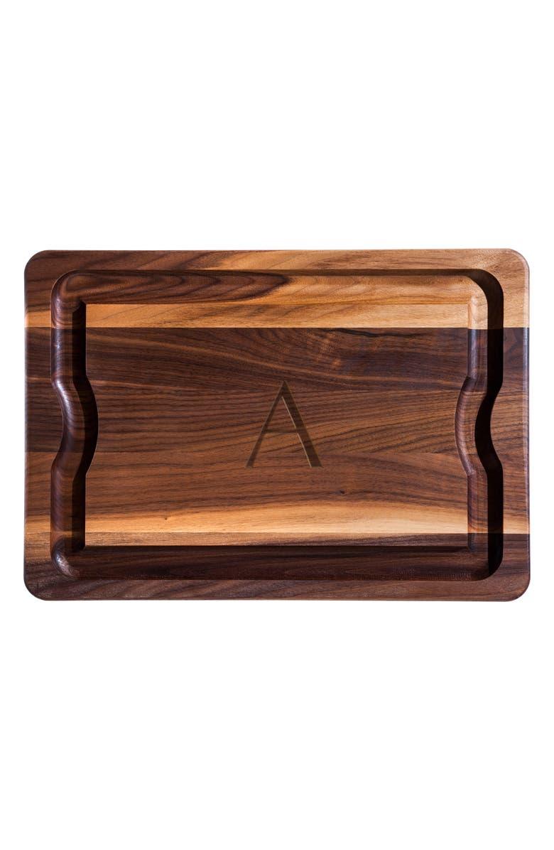 JK ADAMS Monogrammed Walnut BBQ Serving Board, Main, color, A