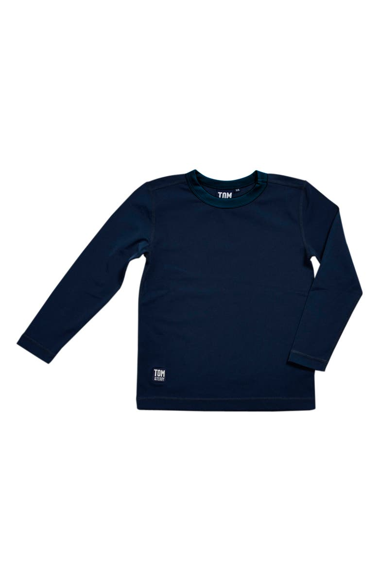 TOM & TEDDY Long Sleeve Rashguard, Main, color, DEEP BLUE