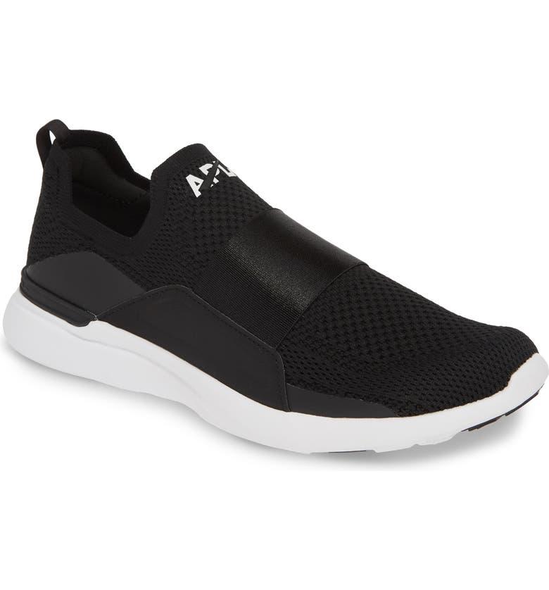APL TechLoom Bliss Knit Running Shoe, Main, color, BLACK/ BLACK/ WHITE